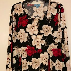 Floral long sleeve XL CeCe top